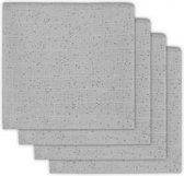 Jollein Mini dots Hydrofiel luier mist grey (4pack)