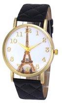 Eiffeltoren Horloge - Zwart