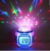 Kinder wekker-Sterren wekker-Sterren hemel-Digitale wekker-LED radio kalender