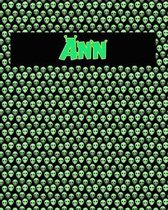 120 Page Handwriting Practice Book with Green Alien Cover Ann