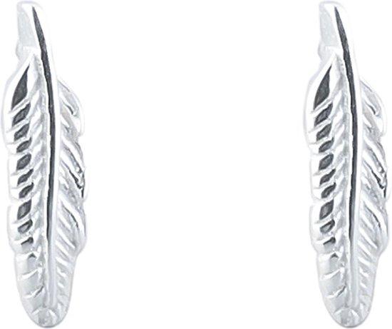 Oorbellen met Veertjes - 925 Sterling Zilver - 1cm - Musthaves - Dielay