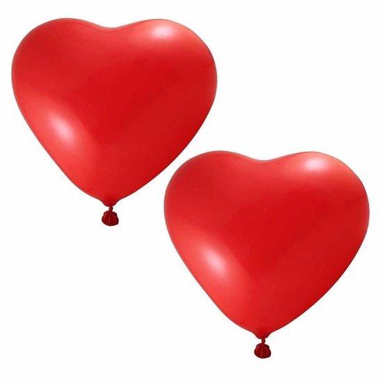 12x hartjes ballonnen rood