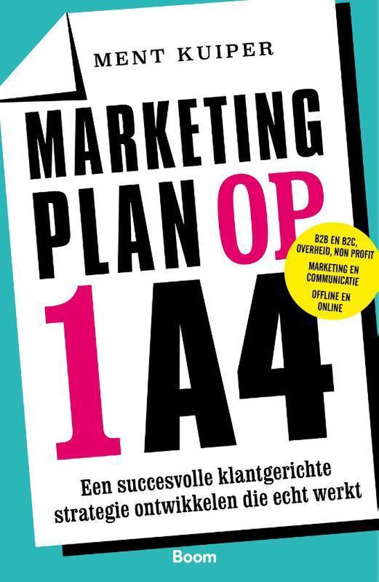 Marketingplan op 1 A4 - Ment Kuiper |