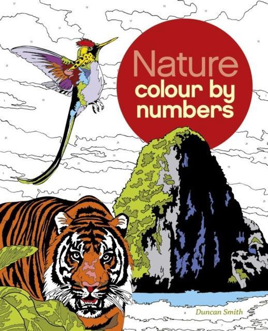 Boek cover Nature Colour by Numbers van Else Lennox (Paperback)