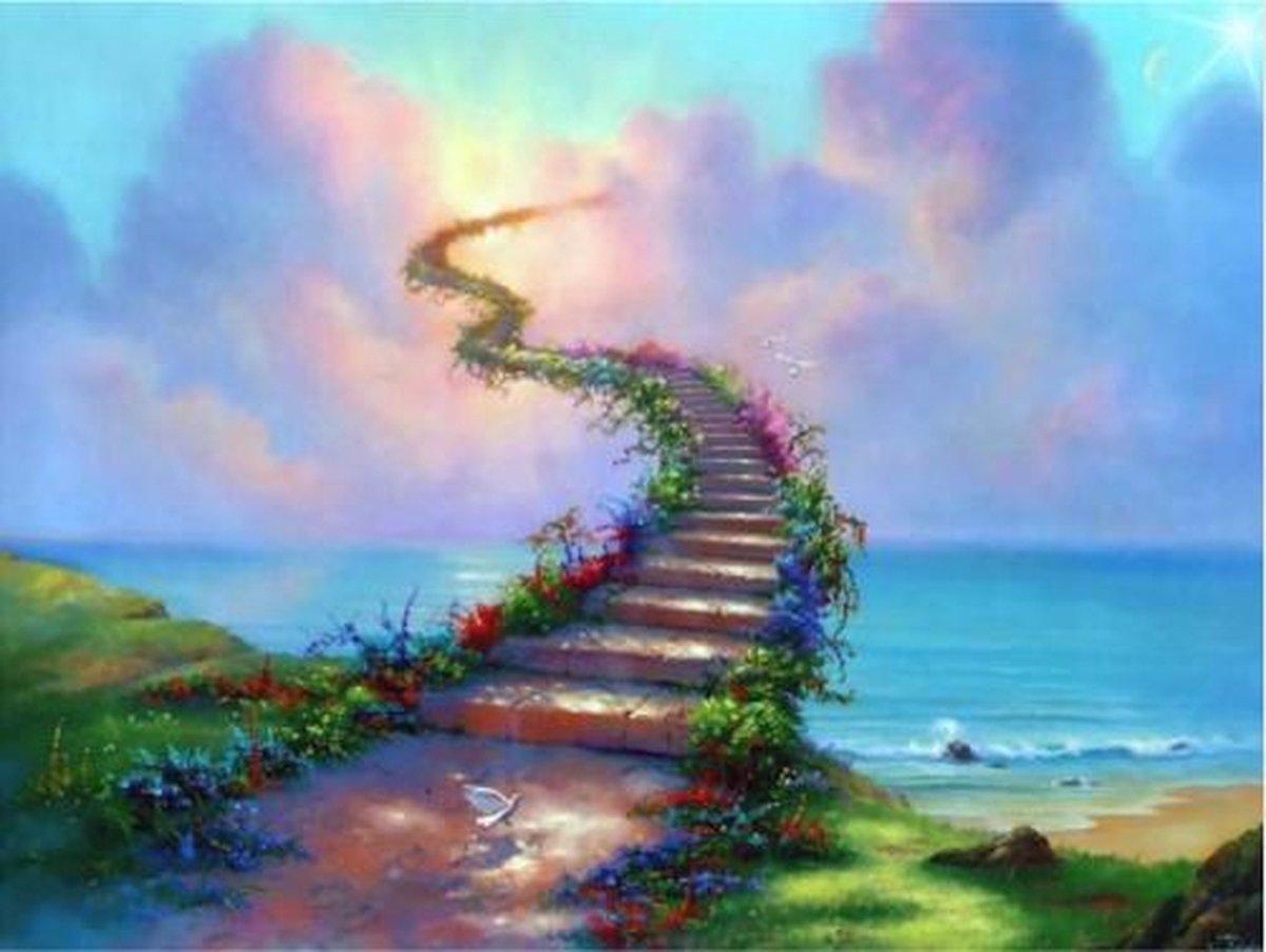 Diamond Painting Pakket Stairway to Heaven - FULL - Diamond Paintings - 40x30 cm - SEOS Shop ®