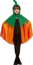 SMIFFYS - Oranje fluweelachtige pompoen cape met capuchon voor kinderen - Accessoires > Capes