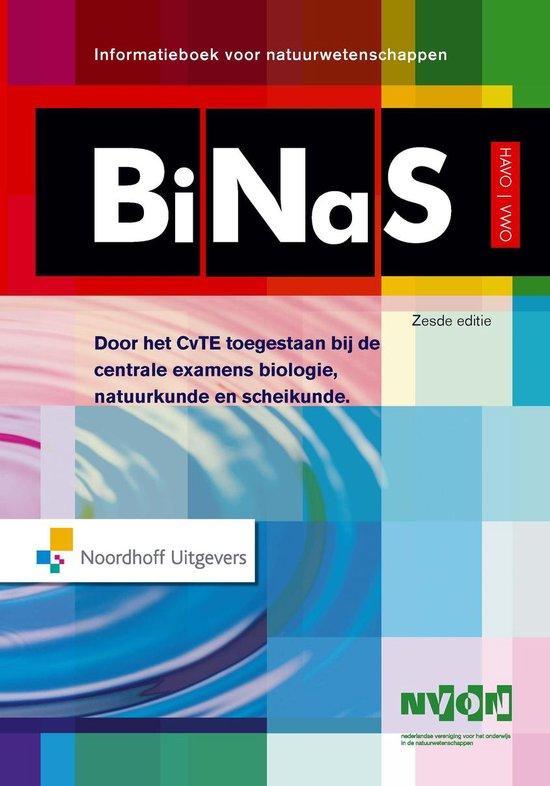 Boekomslag voor Binas 6e havo/vwo informatieboek