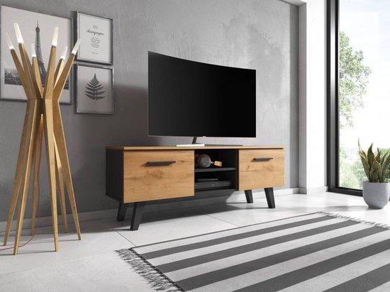 Verrassend bol.com | TV Meubel Zwart & Eiken - Scandinavisch Design DH-44