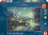 Schmidt Puzzel: Thomas Kinkade - Maanlicht In De Winter