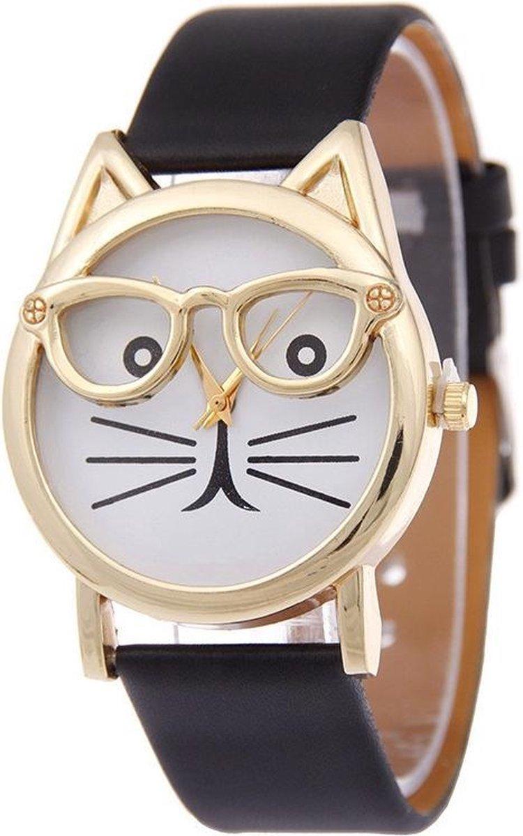 Dames horloge kat analoog