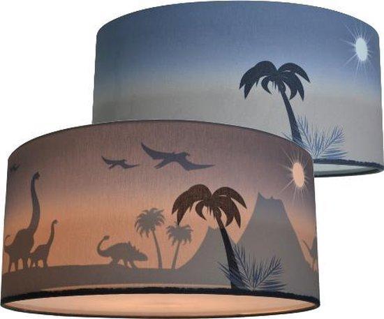 Kinderlamp Dinosaurus plafondlamp – Silhouet lamp Dino Land of Kids – T-Rex Brontosaurus Stegosaurus Dinosaurussen Slaapkamer lamp