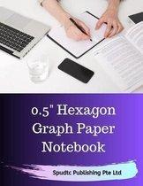 0.5 Hexagon Graph Paper Notebook
