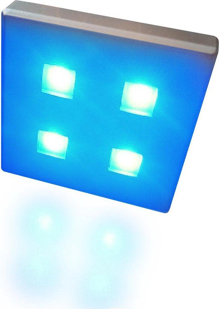 TRONIX set met 6 LED-modules, 230V/12V, plug-and-play, lichtkleur BLAUW | 158-002