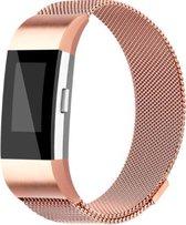 YONO Milanees bandje - Fitbit Charge 2 - Rose Gold - Large