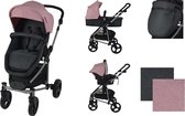 XAdventure Inspire Combi Kinderwagen - Jeans - Pink - Inclusief autostoel
