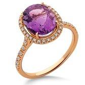 Orphelia RD-3923/54 - Ring - Goud 18 kt - Diamant 0.2 ct / Amethist 2.61 ct - 17.25 mm /  maat 54