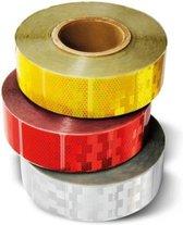 Reflecterende Tape Rood- Per meter