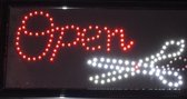 LED Board - Open met schaar bord - Led Reclame - Led Licht -  Open  Scissors