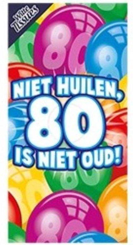 Tissuebox Niet huilen 80 is niet oud