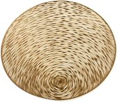 Luxe kunststof antislip ronde placemats – tafelversiering - 4 stuks – goud