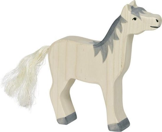 Kleine Houten Speelgoed Paard Staande In De Buurt Van De