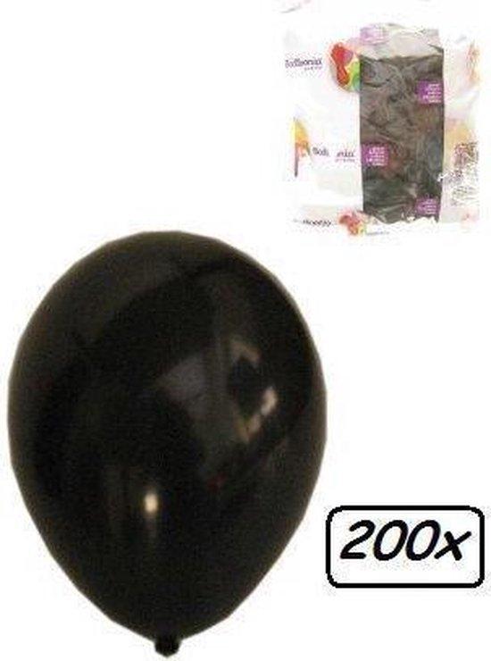 Ballonnen helium 200x zwart - Ballon helium  lucht zwart festival feest party horror