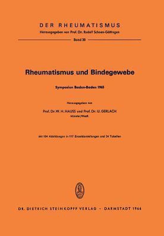 Boek cover Rheumatismus Und Bindegewebe van Werner H. Hauss (Paperback)