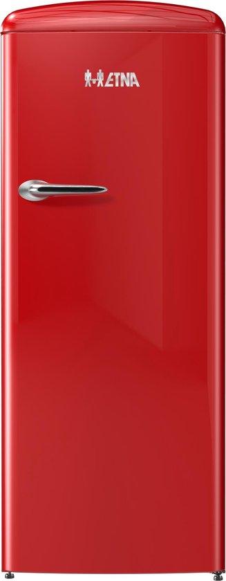 Koelkast: ETNA KVV754ROO - Retro Kastmodel Koelkast met vriesvak - Rood, van het merk ETNA