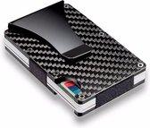 Premium Pasjeshouder Carbon met Geldclip en RFID Anti-Skim