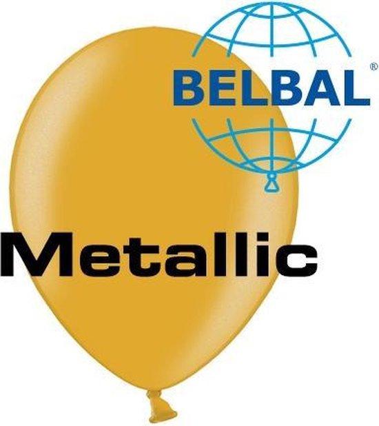 Ballonnen Metallic Goud D5 11 cm 100 stuks