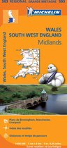 Michelin 503 Wales, South West England, Midlands