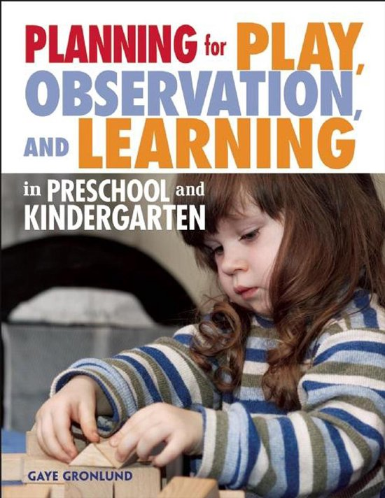 Omslag van Planning for Play, Observation, and Learning in Preschool and Kindergarten