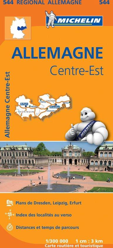 Michelin 544 Allemagne Centre-Est - Midden-Oost Duitsland - none |