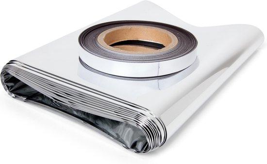 Afbeelding van Radiatorfolie 500 x 50 cm met 10 meter magneettape | voor plaatsing direct achterop de radiator uit het zicht | voorkomt dat warmte in muur trekt
