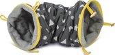 Beeztees Doju Speeltunnel - Kattenspeelgoed - Grijs - 75 x 25 x 25 cm