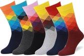 Easton Marlowe Gekleurde Sokken Heren 43-46 6 Paar