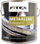 Fitex-Metaallak-Zijdeglans-Ral 9016 Verkeerswit 2,5 liter