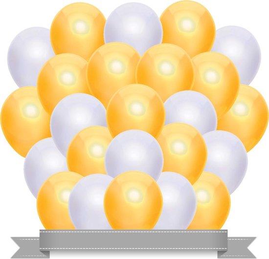 Ballonnen Set Metallic Geel / Wit (20ST)