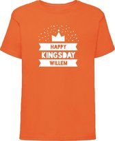 Oranje shirt Koningsdag   Happy Kingsday   Maat 134-140