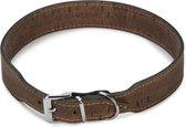 Beeztees Cork - Hondenhalsband - Leer - Bruin - 55,5-59,5 cm x 35 mm