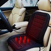 Autostoel Verwarmingskussen - 12V Auto Verwarming Zitkussen Rugkussen - 12 Volt Kussen Rug - Stoelverwarming Autostoelkussen - Zwart - Bavepa