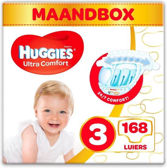 Huggies luiers - Maat 3 - (4 tot 9 kg) - 168 stuks - Voordeelbox