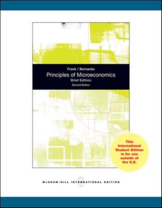 Boek cover Principles of Microeconomics, Brief Edition van Robert Frank