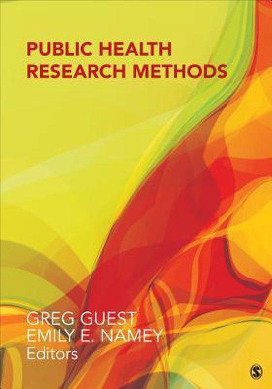 Boek cover Public Health Research Methods van Greg Guest (Hardcover)