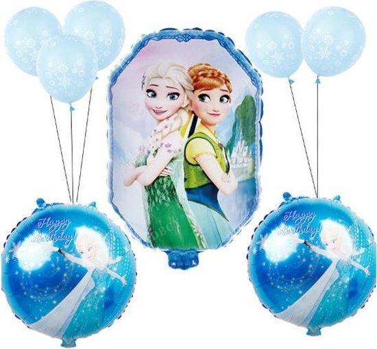 Frozen Ballonnen set |  9 stuks | Elsa & Anna Follie ballonnen |Frozen versiering