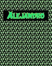 120 Page Handwriting Practice Book with Green Alien Cover Alejandro