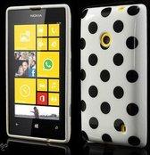 Dots silicone case hoesje Nokia Lumia 520 wit