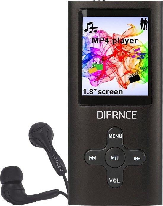 Difrnce MP1851 - MP4 speler - 4 GB - Zwart