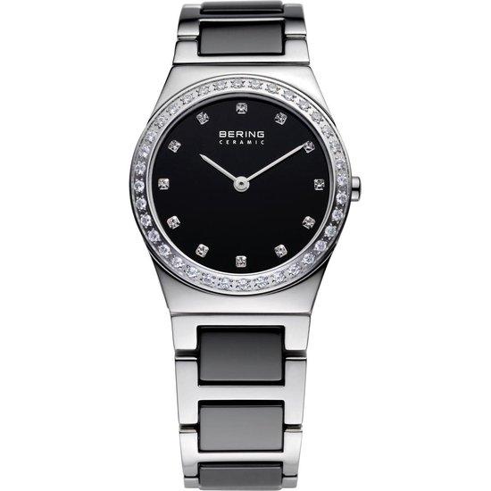 BERING Ceramic 32430-742 - Horloge - Staal | Keramiek - Zilverkleurig | Grijs - Ø 30 mm