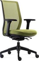 BenS 837-Synchro-4 Groen Ergonomische Bureaustoel met alle instel opties - Voldoet aan EN1335 & ARBO normen Groen/groen